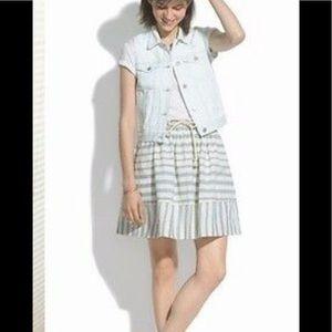 Madewell DockStriped cotton skirt